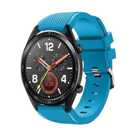 DIPOLA Reemplazo de Correa de muñeca de Reloj de Silicona para Huawei Watch GT Smart Watch 22mm