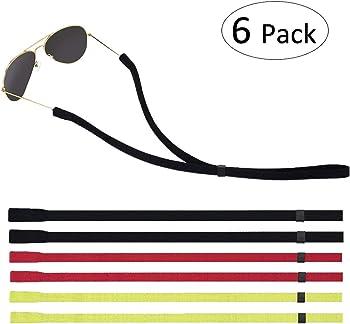 6-Pack Lelife Adjustable Eyewear Retainer