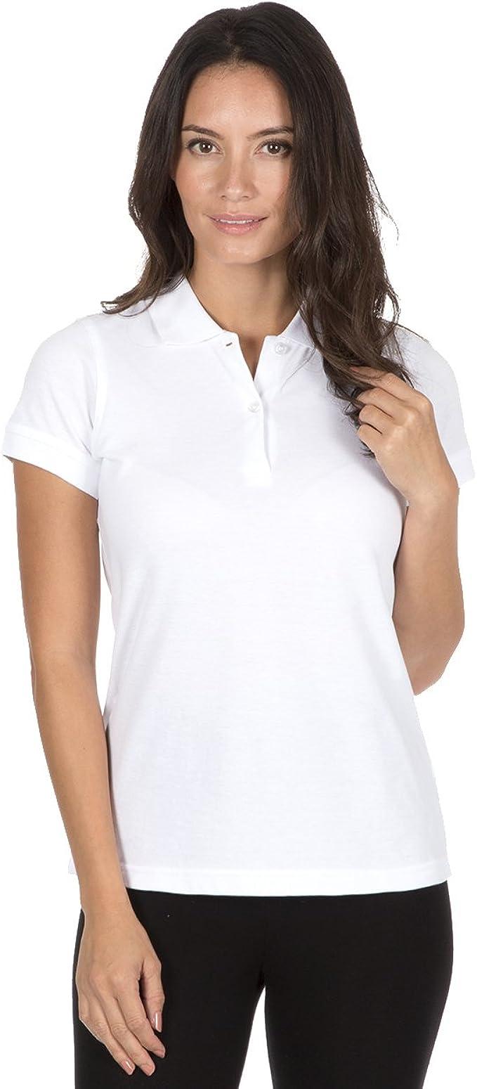 B&C - Polo - para Mujer Blanco (3 Pack) Medium: Amazon.es: Ropa y ...