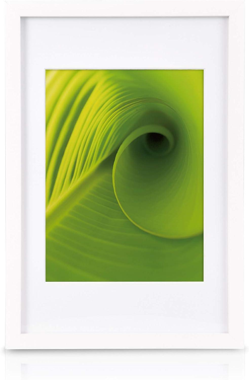 Bianco bomoe Set di 24 Cornici per foto Nature cornici in legno 10x 10,5x15cm // 8x 13x18cm // 4x 15x20cm // 2x 20x30cm Cornici foto multiple da Parete collage portafoto Cornici foto collage