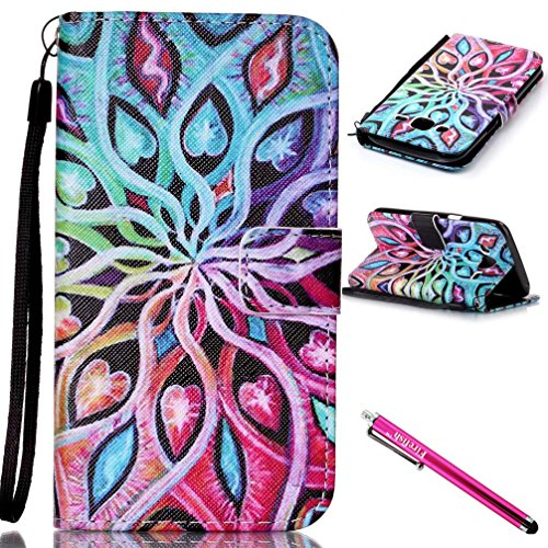 Galaxy J5 2015 Case, Firefish [Kickstand] [Card/Cash Slots] Lightweight Premium PU Leather Wallet Flip Cover with Wrist Strap for Samsung Galaxy J5 (2015 Version)-Colorful