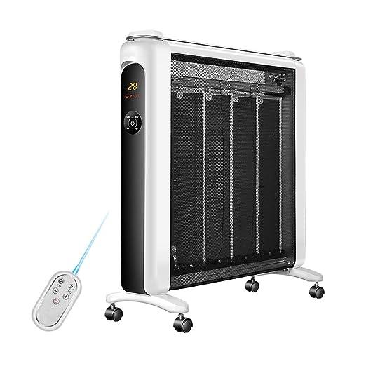 MEI XU Calentadores eléctricos Calentador eléctrico Panel de Mica Calentamiento por convección 3 Fuentes de alimentación Protección contra ...