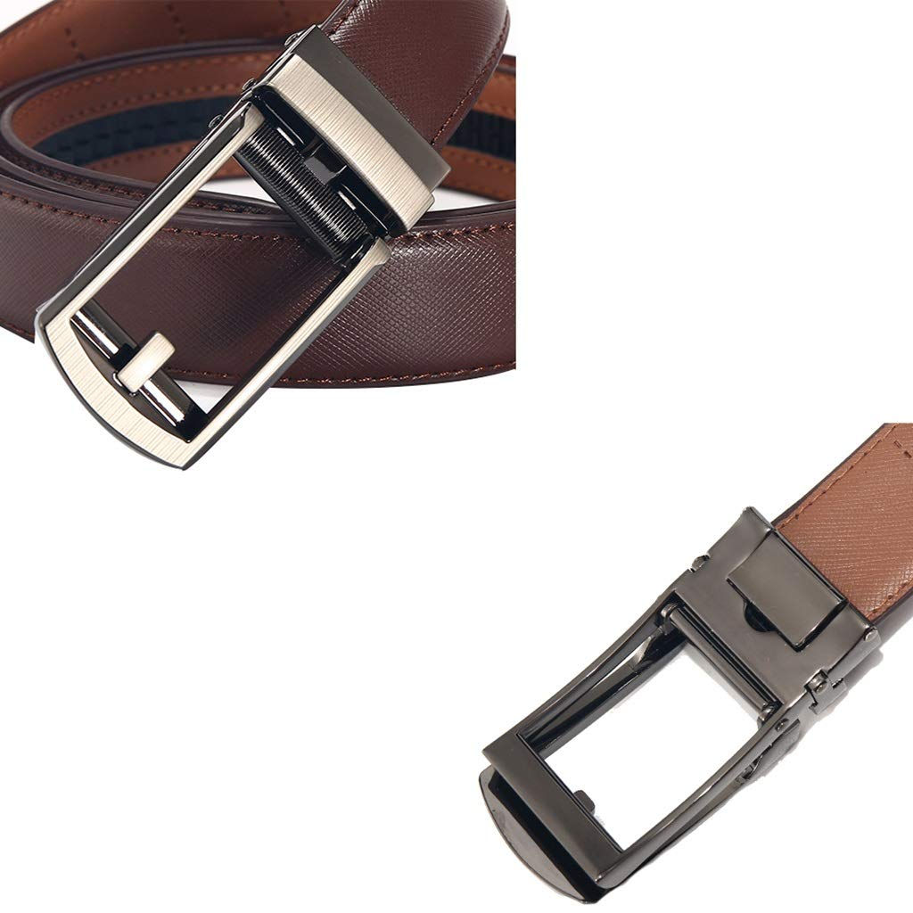 d770c0893a02 Brown Men Belt, Genuine Genuine Genuine Leather 35mm Ratchet Belt ...