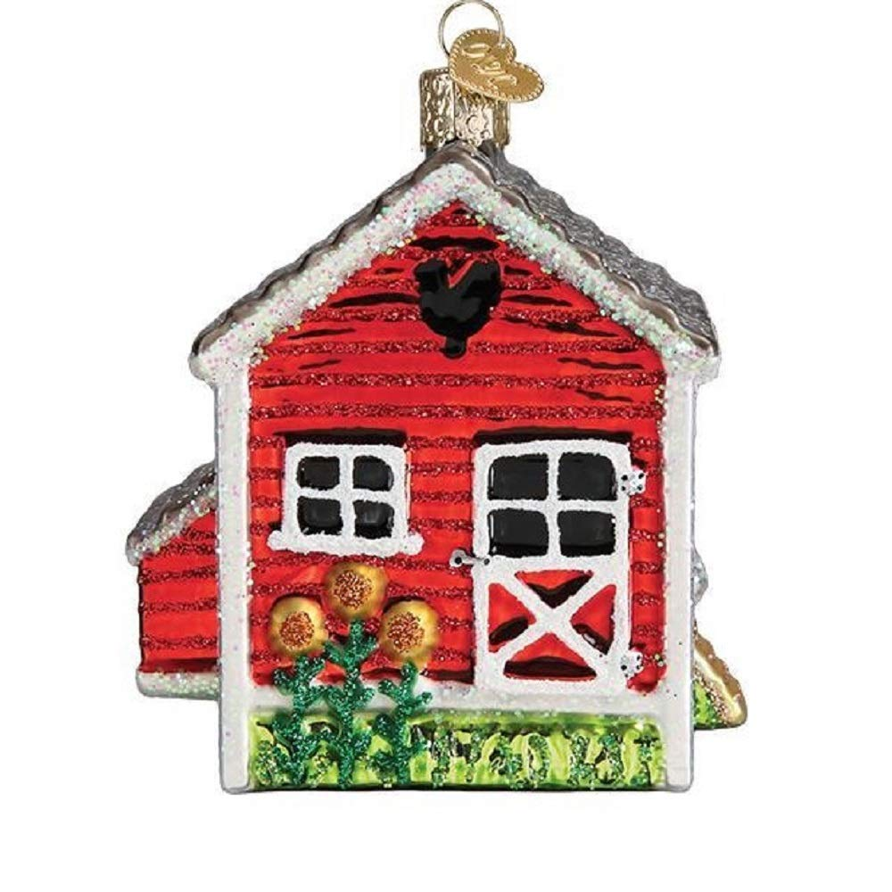 Old World Christmas Chicken Coop