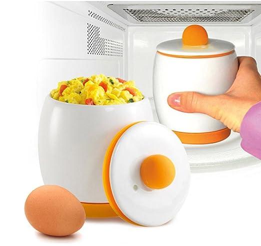 Microondas 1 minuto cocina huevo cocinar al vapor Scramble ...