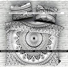 NEW Full Indian Medallion Cotton Mandala black ombre Duvet Cover-Hippie Bohemian Doona set-Twin size Blanket Quilt Cover Bedspread Bedding Comforter Cover With 2 Pillow Covers By BHAIRAV HANDICRAFT