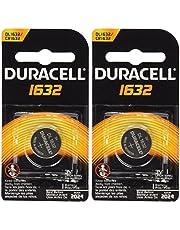 2 Pcs Duracell CR1632 1632 Car Remote Batteries