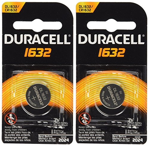 2 Pcs Duracell CR1632 1632 Car Remote Batteries (Motherboard Battery)