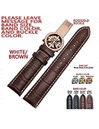 Zhuolei 19mm 20mm 21mm 22mm genuine leather strap fit for Patek Philippe style