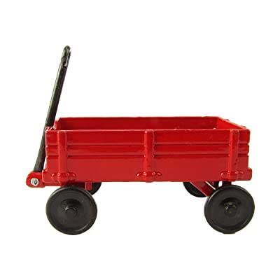 Treasure Gurus 1:12 Scale Model Red Wagon Miniature Dollhouse Accessory Metal Pencil Sharpener: Toys & Games