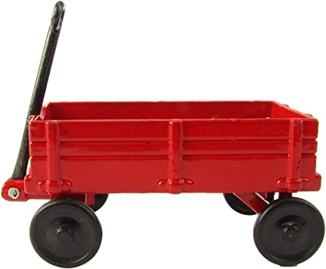 Dollhouse Miniature Old Fashioned Red Wood Wagon