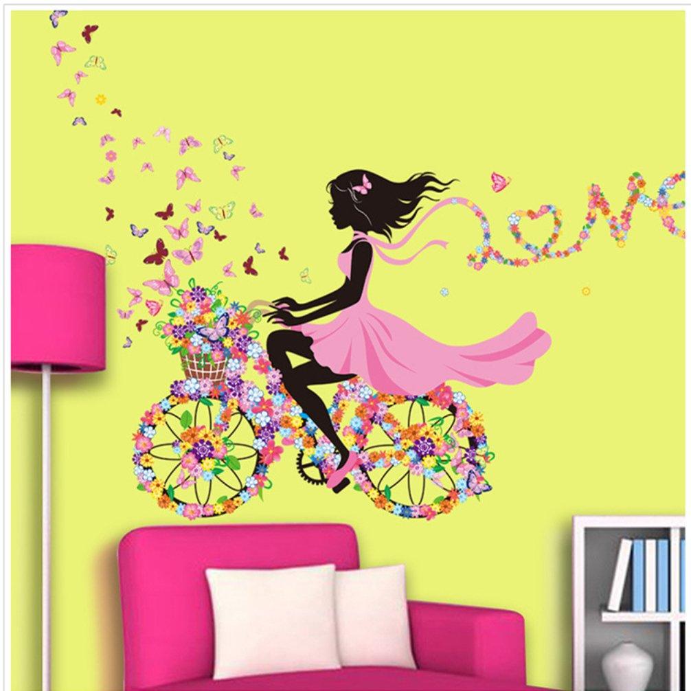 OMGO Stickers Muraux D/écoratifs Sticker denfant Princesse Autocollant Manifique Amovibles pour D/écoration Salon Chambre denfant Fille Armoires