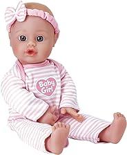 Adora Sweet Baby Girl Doll Washable Soft Body Vinyl Play Toy Gift 11-inch Light Skin & Blue Eyes for Children Age 1+