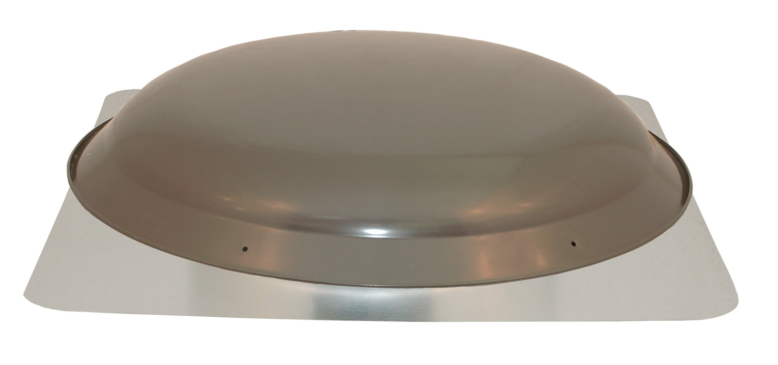 Cool Attic CX2001AMWG Power Attic Roof Mount Ventilator with 60-Hz Motor and Steel Flange, Weathered Grey Galvanized Steel Dome