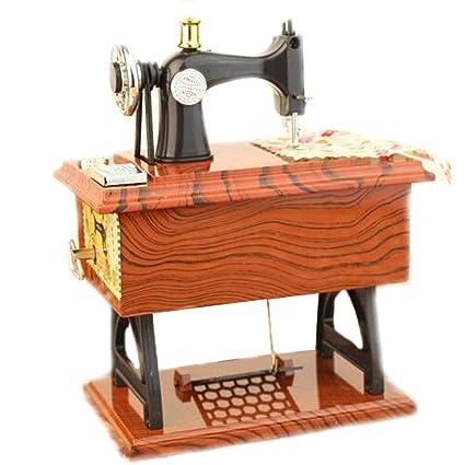 EULAGPRE 1x Máquina de Coser Retro Caja de Música Coleccionistas Ornamento Treadle Regalo Exquisito: Amazon.es: Hogar