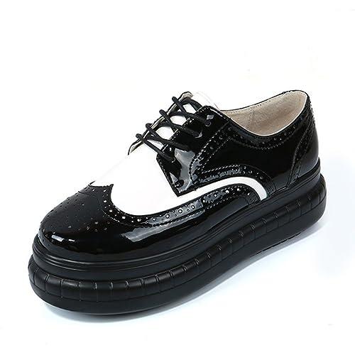 Women Creepers Roseg itE Accessori Laces 5Amazon Rest Shoes Blackwhite Size35 Platform Velluto Rq4AScj35L