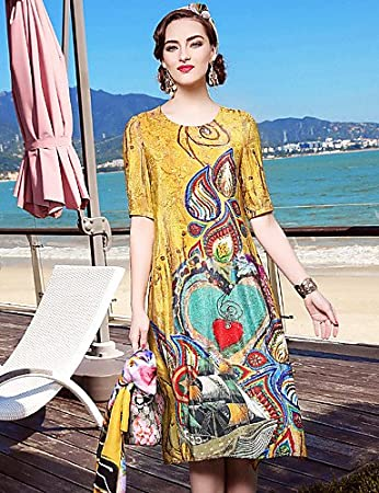 c489e0a067ac PAN PAN YENMEINAR Women s Going out Casual Daily Beach Simple Sophisticated Loose  Dress