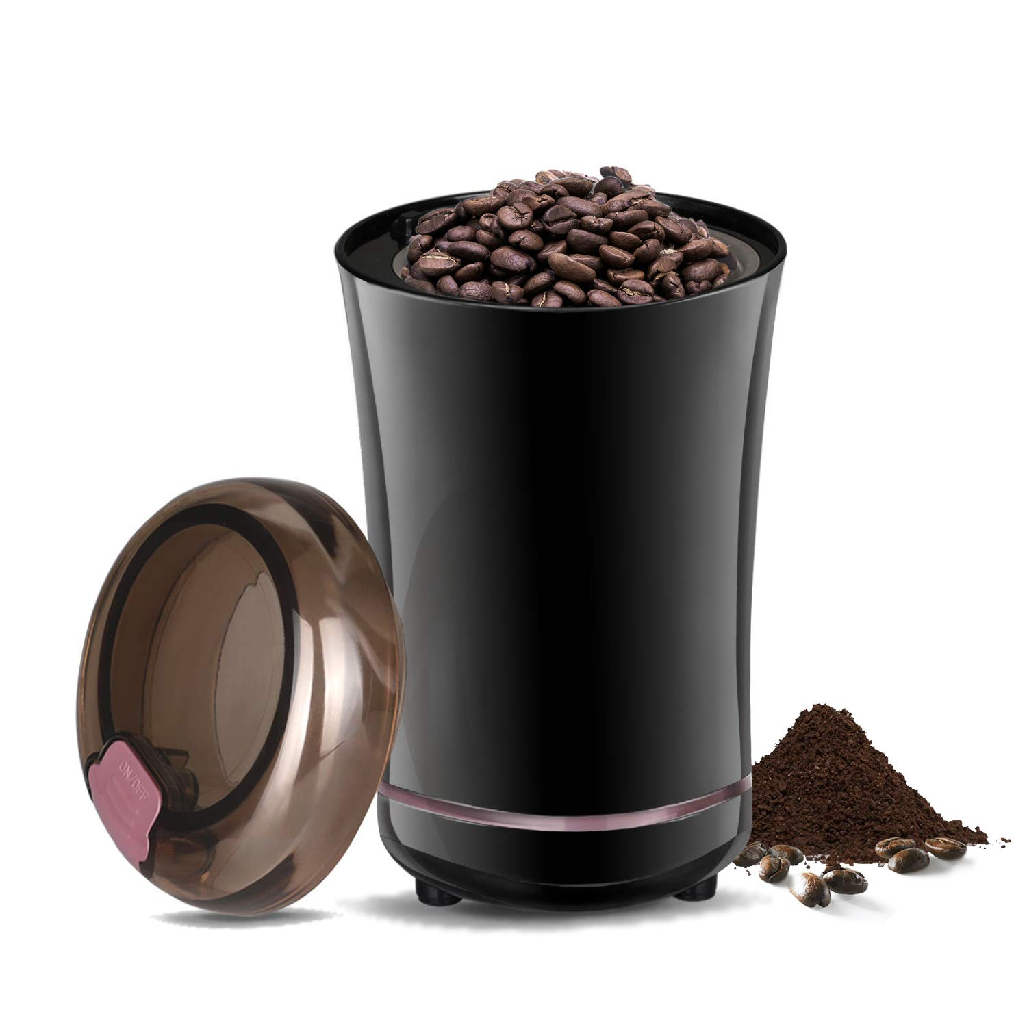 Coffee Grinder, Travelnote Electric Coffee Bean Grinder with Stainless Steel Blades for Coffee Beans Spice Nuts Grain, Make Up to 12Cups