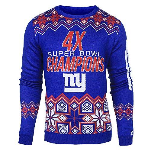 Small NFL Men's Super Bowl Commemorative Crew Neck Sweater