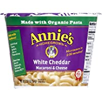 Annie's White Cheddar Microwavable Macaroni & Cheese, 12 cups, 2.01oz (Pack of 12)