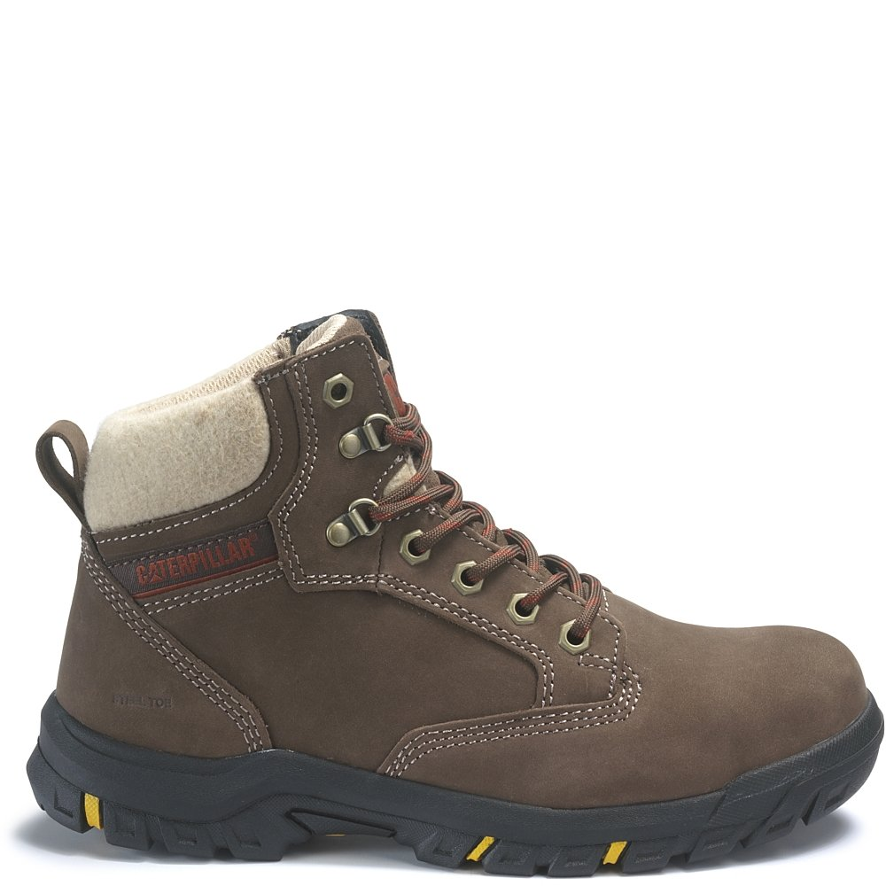 Caterpillar Tess Steel Toe Work Boot B07DVYMB15 11 B(M) US|Chocolate