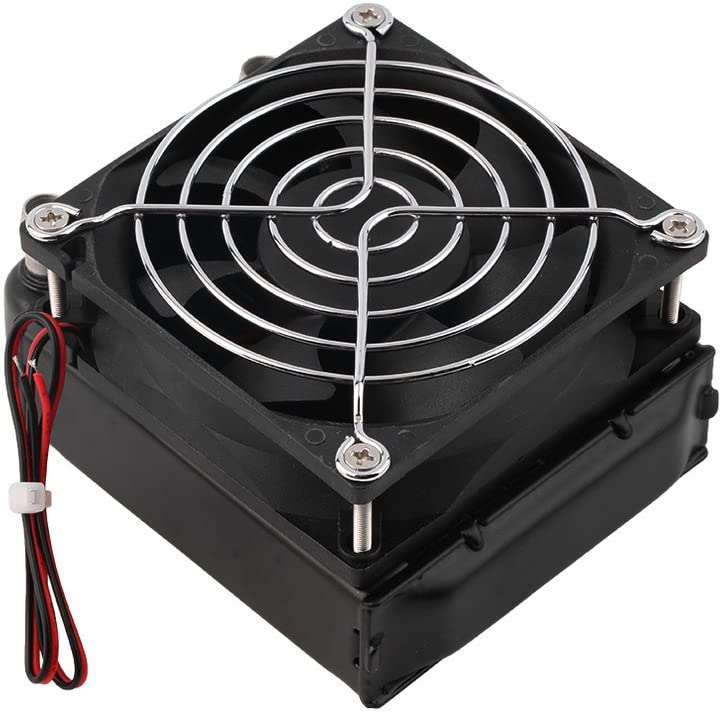 Mandalaa Aluminum 80Mm Water Cooling Row with Fan for CPU Durable Cooling System Devices Computer Radiator Compact Heat Exchanger Stainless Grinding Mortar Pestle Device