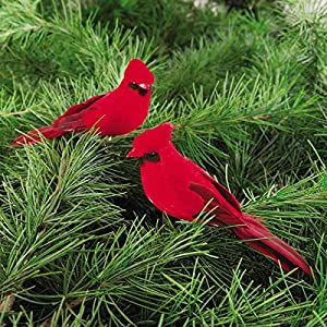 C&F Cardinal Clip-on 5-Inch Christmas Ornament, Red, Pack of 2 9