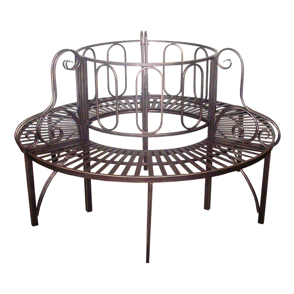 Amazon.com : Design Toscano Roundabout Architectural Steel Garden Bench :  Outdoor Benches : Garden & Outdoor