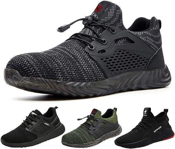SUADEEX Sicherheitsschuhe Herren s3 Arbeitsschuhe Damen Leicht Atmungsaktiv Schutzschuhe mit Stahlkappe Sportlich Schuhe