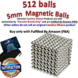 5mm 512 pieces Large Magnetic Balls Building Blocks Sculpture Magnets Educational game Office Magnet Toy Intelligence Development Stress Relief Imagination gift family (set of 216pcs x2 + 80 balls)