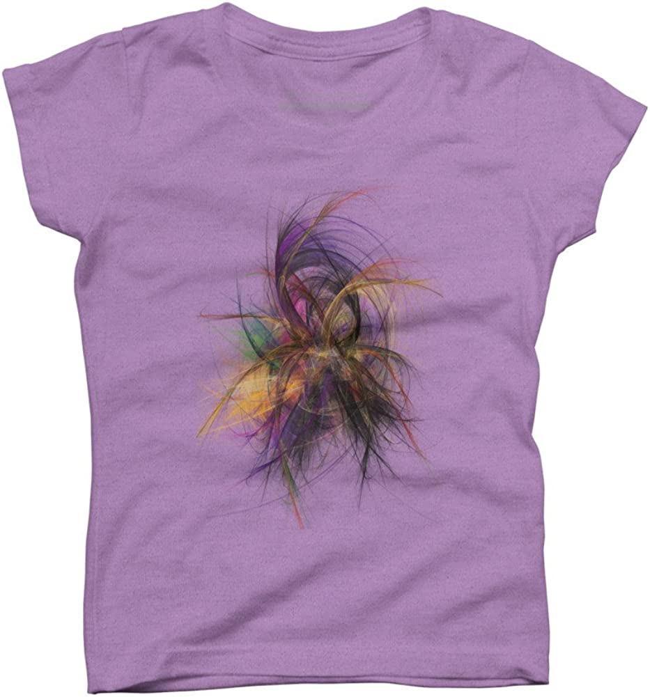 Design By Humans Flower abstract art Girls Youth Graphic T Shirt