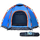 Wnnideo Instant Family 2-3 Person Tent Automatic Pop Up Tents Waterproof for Outdoor Sports Camping Hiking Travel Beach