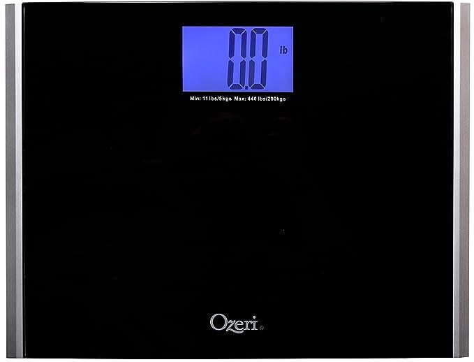 Ozeri Precision Pro II - Báscula de Baño Digital (200 kg), con Tecnología de Detección de Cambio de Peso: Amazon.es: Salud y cuidado personal