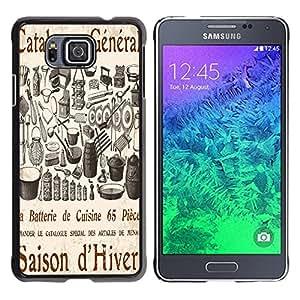 Dragon Case - FOR Samsung ALPHA G850 - I have forgotten you. - Caja protectora de pl??stico duro de la cubierta Dise?¡Ào Slim Fit