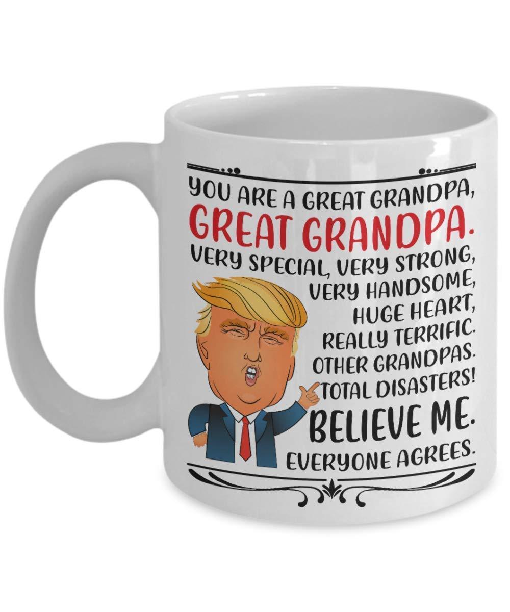 A.Patience - Funny Donald Trump Mug Gifts ideas for Grandpa for Birthday, Christmas - Funny Grandpa Gifts from Granddaughter, Kids for Christmas - Funny Grandpa Coffee Mug Tea Cup 11 OZ White