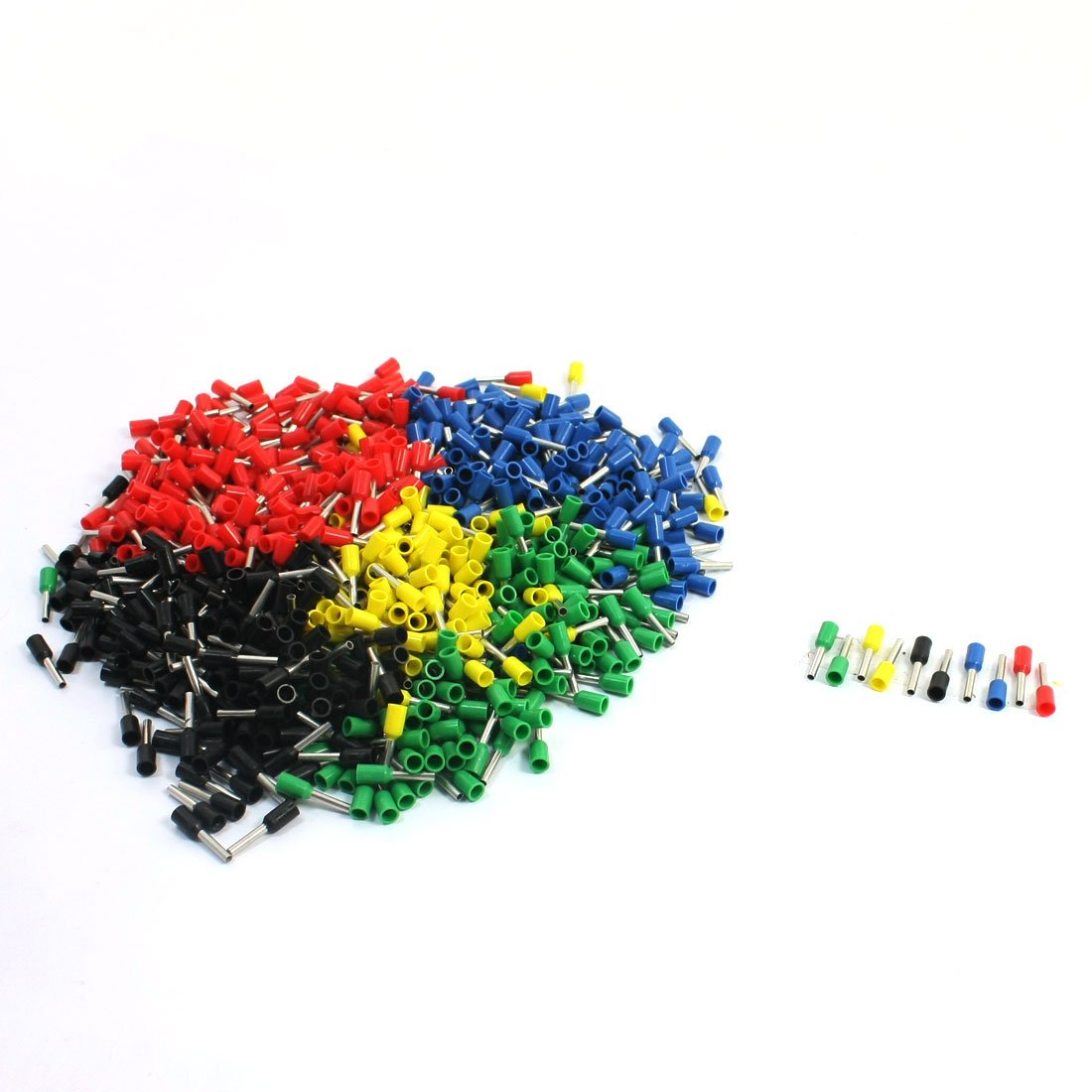 18 AWG Wire E1008 Mixed Color Pre-Insulated Ferrules Terminals 950Pcs