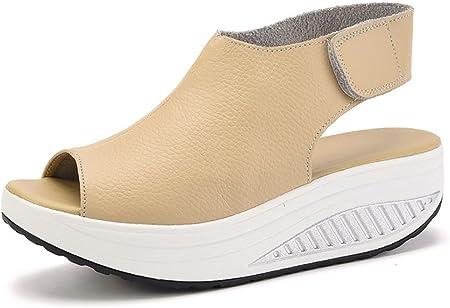 Material exterior: Cuero,Revestimiento: Forro suave, sandalias muy cómodas para verano.,Material de