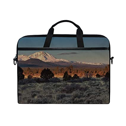 5c3bc0ddf630 Amazon.com: Rh Studio Laptop Bag Moon Sky Mountains Trees Colors ...