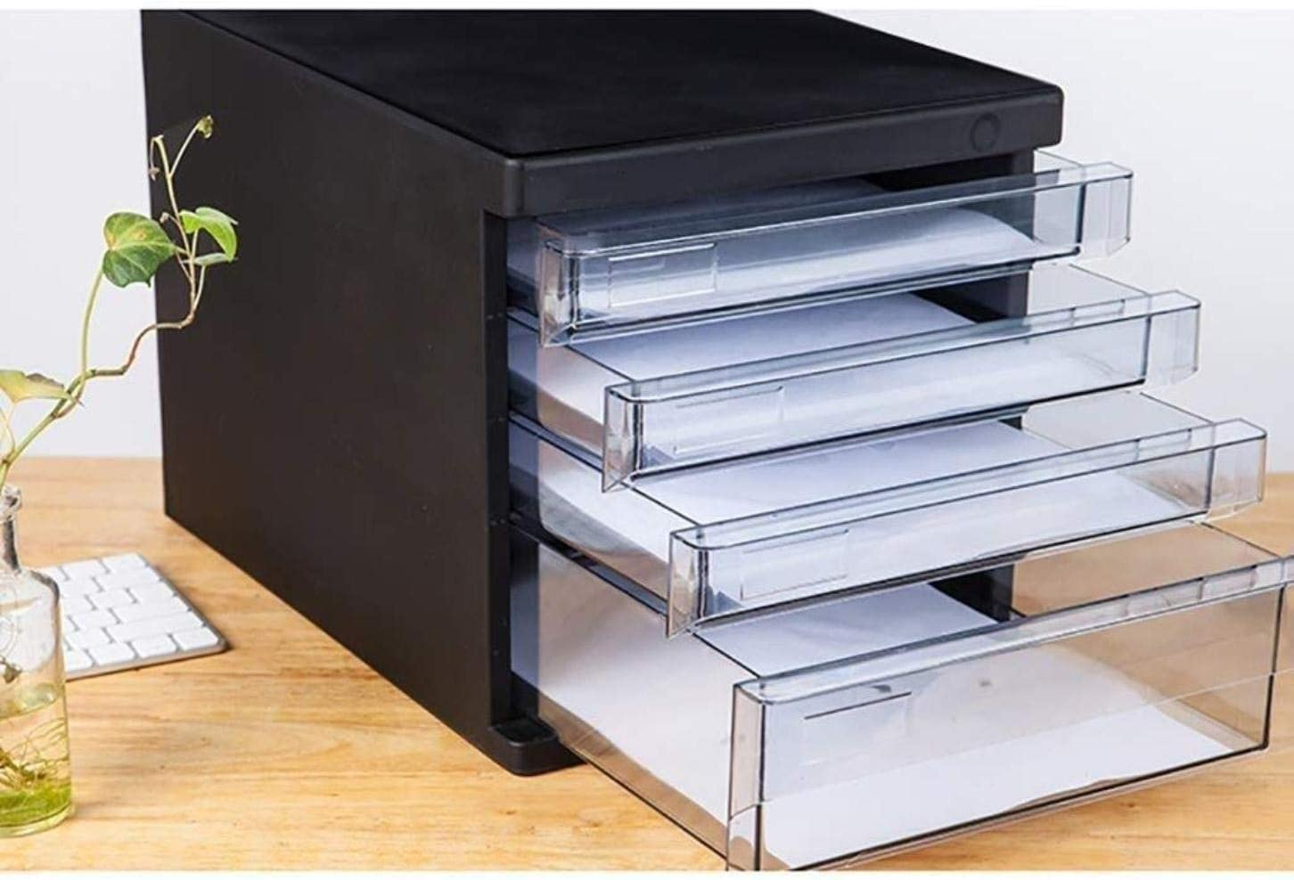 26.5X36X25.5CM File Cabinet Color : A1, Size : with Lock File Cabinets File Cabinets Portable Tidy Storage Box-abs Material Landslide Track Drawer Small White Label Ring Cabinet Pp Plastic