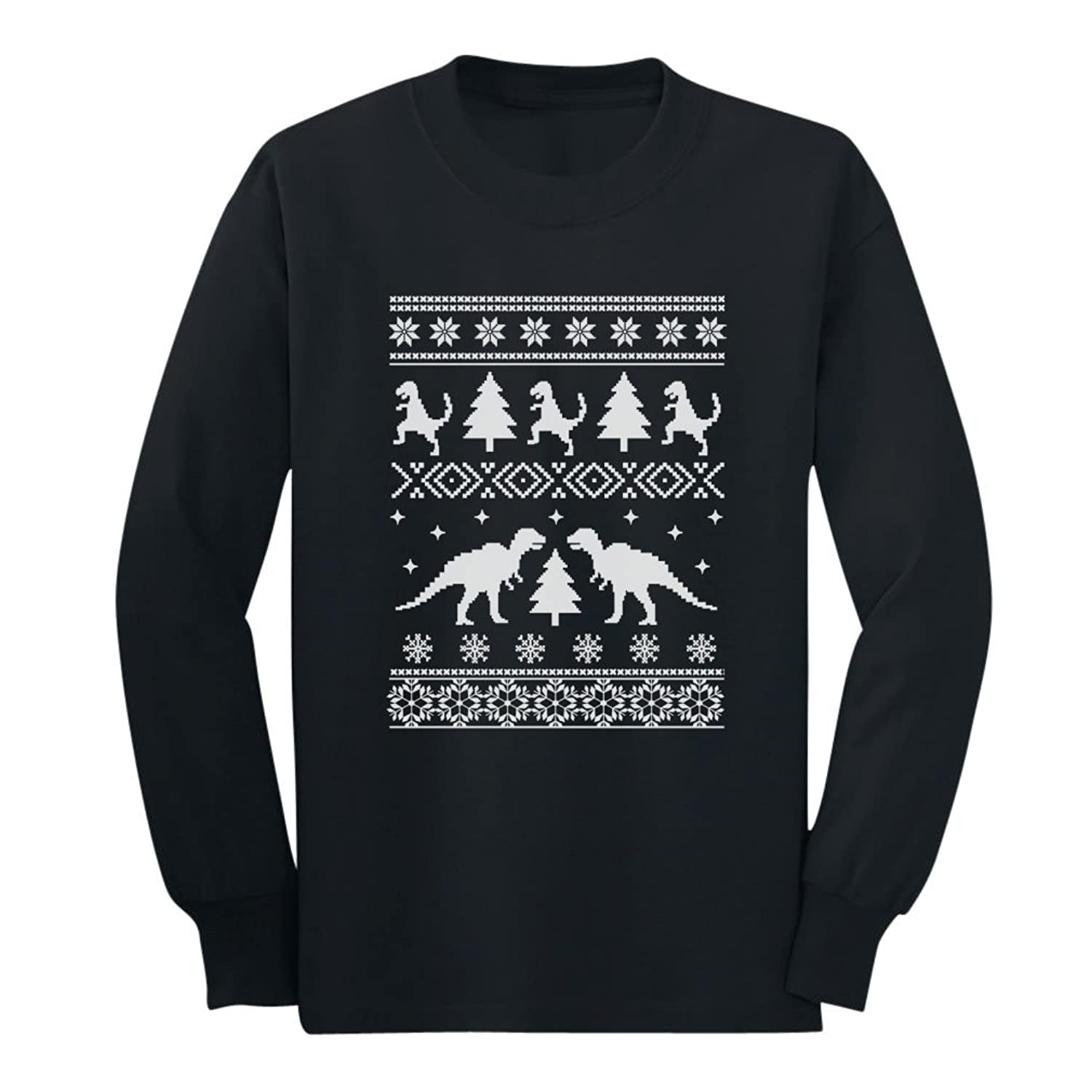 Amazon.com: TeeStars - Ugly Christmas Sweater Trex Long Sleeve Kids ...