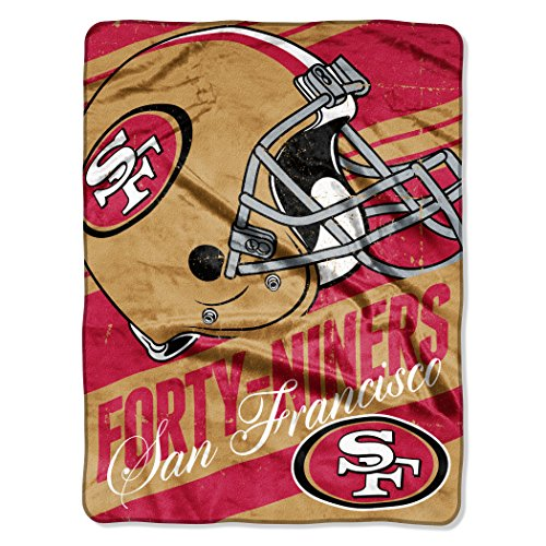The Northwest Company Officially Licensed NFL San Francisco 49ers Deep Slant Micro Raschel Throw Blanket, 46
