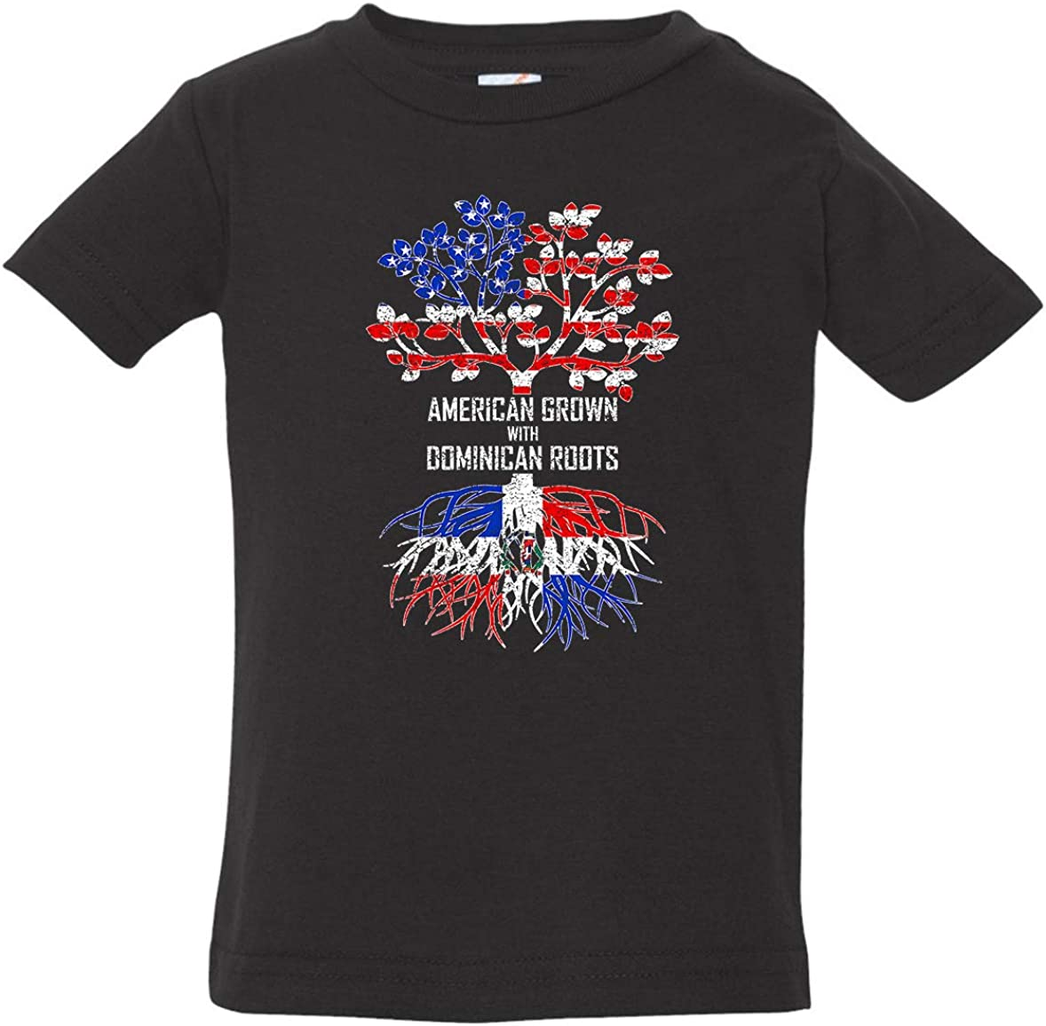 Dominican Republic Shirt Tenacitee Babys American Grown with Dominican Roots