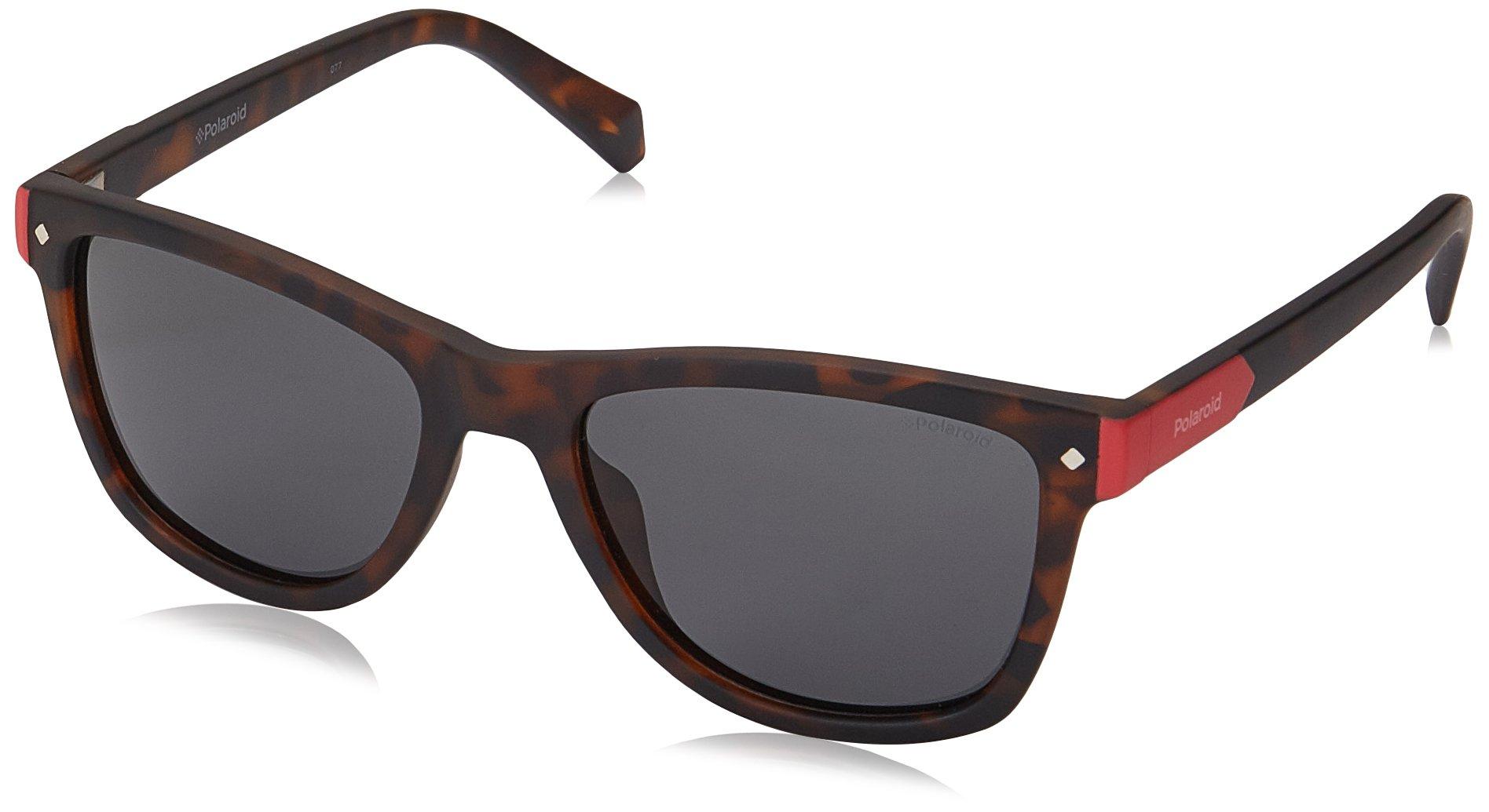 Polaroid Sunglasses Girls' Pld8025s Polarized Rectangular Sunglasses, MATT HVNA, 48 mm by Polaroid Sunglasses (Image #1)