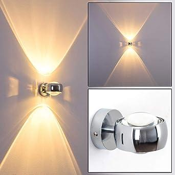 wand lampe sapri halbrund designer effektlampe mit schlitzen in modernem chrom die wandbeleuchtung funktioniert mit led oder halogen amazon de