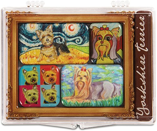 Pavilion Gift Company 12006 Paw Palettes 6-Piece Mini Masterpiece Magnet Set, 4 by 3-1/2-Inch, Yorkshire - Artists Magnet Palette