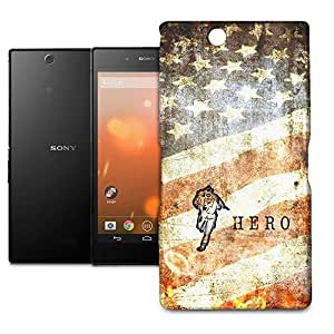 Phone Case For Sony Xperia Z Ultra - Firefighter Hero Grunge Lightweight Wrap-Around