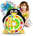"""Penguin ABC Learning Educational Toy with Electronic Learning Game by Boxiki Kids. Learning ABCs, Words, Spelling, Shapes, """"Where Is?"""" Game, Kids' Favorite Songs"""