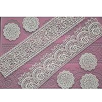 CUATRO-C Encaje Estera de silicona Molde de silicona Suministros de decoración de pasteles Color Rosa