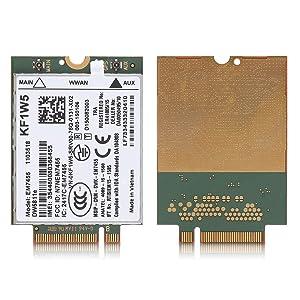 Zerone Wireless EM7455 for Dell DW5811e 3P10Y Qualcomm 4G LTE WWAN NGFF Card Module, LTE Support (North America/EMEA) -B1 (2100 MHz), B2 (1900 MHz), B3 (1800 MHz), B4 (1700 MHz AWS), B7 (800 MHz-DD)