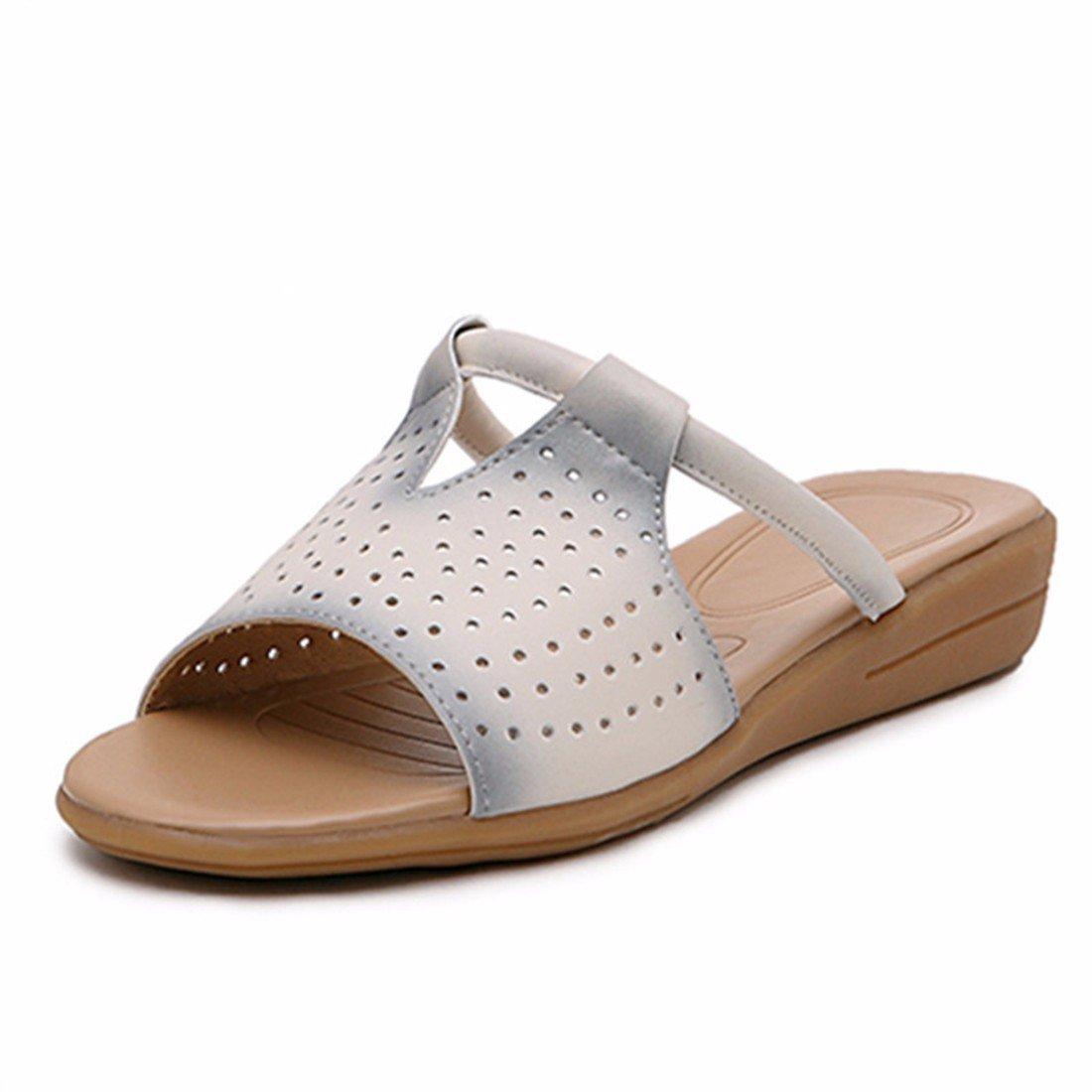 Zapatillas Sandalias Zapatos  Zapatillas de Mujer Zapatillas     Planas Ocasionales      Antideslizantes Sandalias Transpirables Femeninas    Antideslizantes Zapatos de Madre 40 EU|Blanco